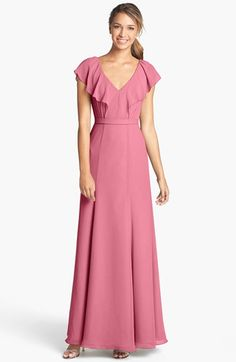 Jenny Yoo 'Cecilia' Ruffled Chiffon Long Dress (Online Only) | Nordstrom  reminds me of hermione's yule ball dress.