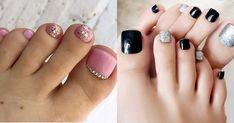 15 bonitos diseños para las uñas de tus pies – Magazine Feed Simple Toe Nails, Pretty Toe Nails, Pretty Toes, Pedicure, Eye Makeup, Nail Art, Beauty, Toenails, Ideas Para