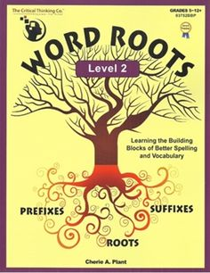 Students learn the meaning and spelling of Latin roots, prefixes, and suffixes commonly used in English. Learning these word elements dramatically improves spelling and the ability to decode unfamiliar words. The activities focus on using these words in c Roots Book, Improve Reading Comprehension, Word Skills, New Vocabulary Words, Prefixes And Suffixes, Root Words, Sentence Writing, Teacher Supplies, Greek Words