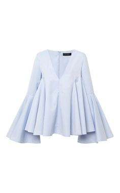 Lolita Circle Sleeve V-Neck Shirt by Ellery - Moda Operandi