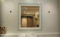Recycled Glass Tile in Bathroom by Installations Plus Inc of Holliston MA
