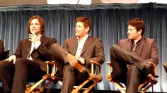 Misha talks about how Castiel's voice is a regret (sort of) and Jensen and Jared talk about their first impressions of Misha.  Very funny!