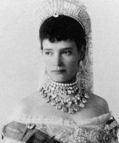 Pensive photo of Tsarina Maria Alexandrovna, consort of Tsar Alexander III.
