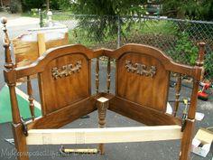 Reciclando un cabecero una hermosa silla