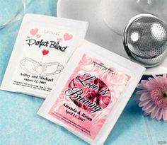 Personalized Tea Bag Wedding Favors | Wedding Tea Bags
