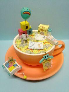 'Welcome Little One' - #teacup #diorama #miniature #world - by #Love #Harriet @ www.lilyanddot.com.au