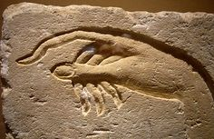 Hand of Akhenaten making an offering to Aten Ancient Egypt, from Ashmunein Dynasty 18 Sandstone Metropolitan Museum of Art