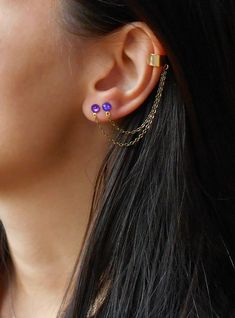 Double Piercing Earrings Ear Cuff With By Maleena09 Simple