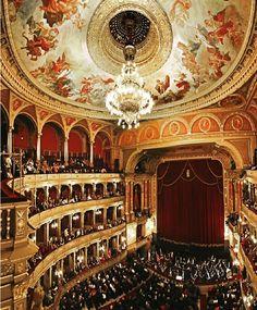 Opera House inside, Budapest, Hungary