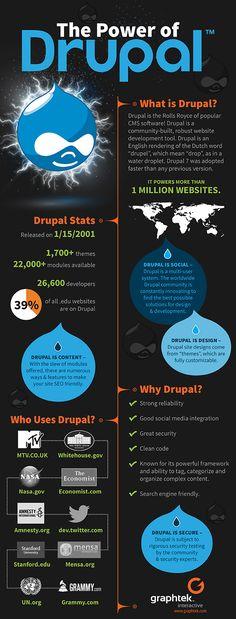 Drupal - The power behind your website. #webdesign #website #infographic