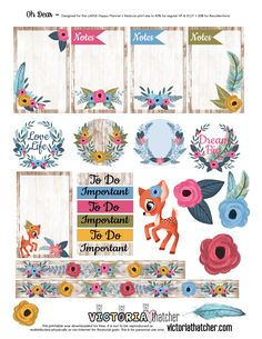 Free Oh Dear Planner Printable | Victoria Thatcher