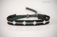 This item is unavailable Loom Bracelet Patterns, Seed Bead Patterns, Bead Loom Bracelets, Bracelets For Men, Leather Pattern, Tear, Loom Beading, Bead Weaving, Beaded Jewelry