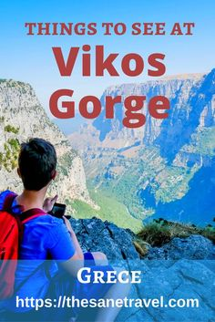 Hiking the Vikos Gorge, Greece.