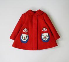 Matryoshka Coat by littlegoodall on Etsy