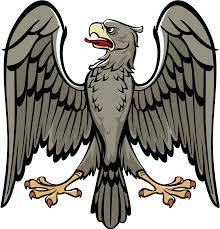 The eagle is a common animal featured in heraldry and family crests because it symbolises power, authority and wisdom.