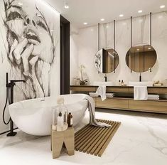 Bathroom Inspiration : StudionacrtThe Definitive Source for Interior Designers Small Bathroom Interior, Bathroom Design Luxury, Simple Bathroom, Modern Bathroom, Cheap Bedroom Decor, Cheap Home Decor, Bad Inspiration, Bathroom Inspiration, Spa Interior Design