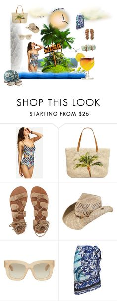"""Tribal swimwear"" by flowerbud77 on Polyvore featuring moda, WithChic, Style & Co., Billabong, Peter Grimm, Acne Studios, Gottex, TIKI y Maslin & Co."