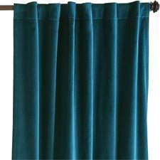 Sheridan Velvet Curtain - Ink