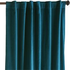 Sheridan Velvet Curtain - Ink