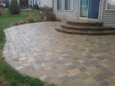 brick paver patio and steps restored in saline - Paver Stone Patio