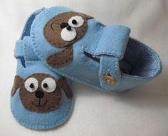 como hacer zapatitos de tela para bebes