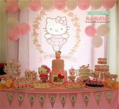 hello kitty birthday decoration ideas - Buscar con Google