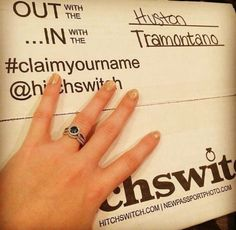 💍💍💍 #HitchSwitch #claimyourname 📸: @dustirtramontano