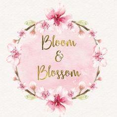 cherry blossom logo wreath