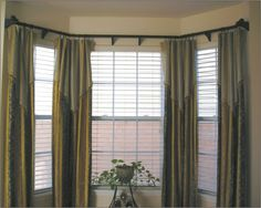 1000 images about window blinds treatments on pinterest for Contemporary window treatments for bay windows