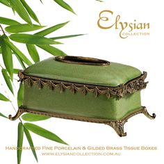 For the Pantone colour of the year: Olive Green Crackle Finish Tissue Box  https://elysiancollection.com.au/products/catherine-de-medici-tissue-box  #elysiancollectiontissuebox #luxurybathroomaccessories #pantonecolouroftheyear