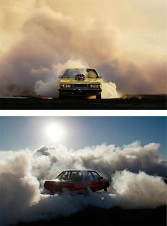"""Burnouts"" Photo Series by Simon Davidson"