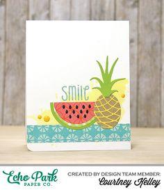 Echo Park Paper: Smile - Scrapbook.com Paper pieced card.
