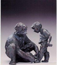 Jane DeDecker, The Ties That Bind, Ed. AP3/31, bronze, 12 X 14 X 7 inches