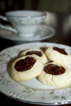 "I love this recipe for an old standard - thumbprint cookies. I have always hated the ""thumb"" part of making thumbprint cookies - my thumbs are not anywhere near the proper shape. Reshaping the impr..."