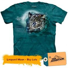 Tricouri The Mountain – Tricou Leopard Moon Cats, Mens Tops, T Shirt, Mountain, Moon, Gatos, Tee, The Moon, Kitty