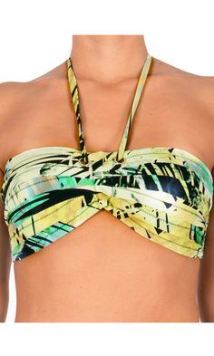 Aqua Blu - Island Palms - Bandeau Bra. A3071IP. Australian Ladies swimwear at Aussie Swim Store. $79.90 AUD