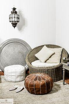 I love the pouf! Moroccan inspired interior.