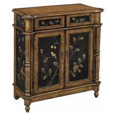 2-drawer chest with 2 doors and turned side columns.   Product: ChestConstruction Material: Wood Co...