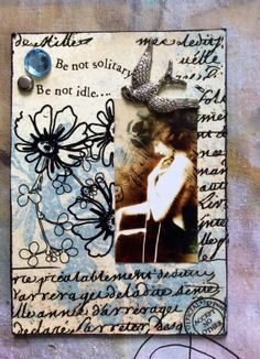 Solitude  Another Conceptual Artist Trading Card by Alteredhead, $12.50