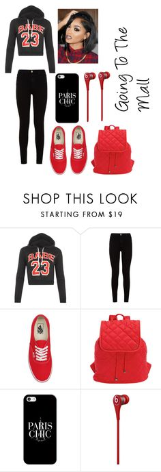 """""""Going To The Mall"""" by jaden-norman ❤ liked on Polyvore featuring WearAll, 7 For All Mankind, Vans, LeSportsac, Casetify and Beats by Dr. Dre"""