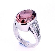 Pink Tourmaline Ring. Handmade and custom designed by Peter Kumskov 'My Own Jeweller Direct' in Runcorn Brisbane