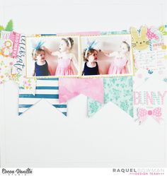 Hey everyone, its Raquel here today sharing a new layout as a part of Easter/Spring week here on the Cocoa Vanilla Studio blog. For todays layout I couldn't go past the Make a Wish collection. The florals, and colour palette along with the theme of celebration truly scream Easter to me! It was the perfect