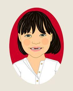 Individual Custom portrait. Kid portrait. Child #art #drawing @EtsyMktgTool http://etsy.me/2y9USDc #lilidiprima #customportraits