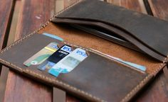 5-in Smartphone Distressed Leather Wallet Case