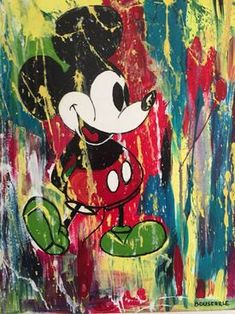 Frédéric Bouscarle, Mickey, Peinture