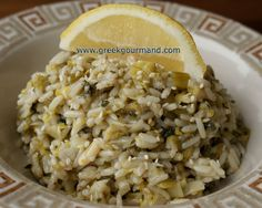 Greek Food Recipes and Reflections: Prasorizo - Leeks and Rice (Πρασόρυζο)