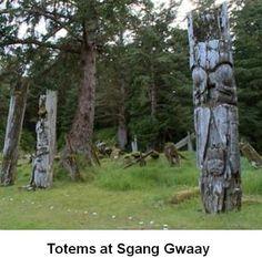 Haida totems --- I love the old weathered totems.