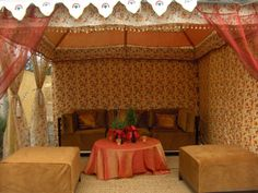 Red and Orange Tent Wedding, Tents, Valance Curtains, Indian, Orange, Red, Beautiful, Design, Home Decor
