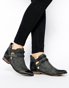 Free People | Free People Braeburn Cut Out Flat Ankle Boots at ASOS