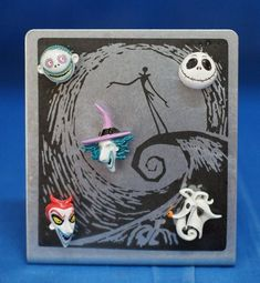 Disney Nightmare Before Christmas Metal Photo Frame with Magnets NIB #WaltDisneyParks